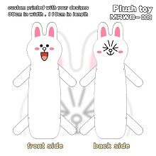 Anne rabbit anime long plush doll