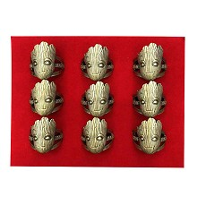 Guardians of the Galaxy Groot rings set(9pcs a set...
