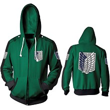 Attack on Titan anime 3D printing hoodie sweater c...