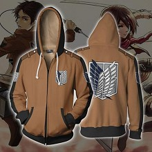 Attack on Titan anime printing hoodie sweater cloth