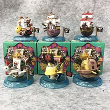 One Piece boat anime figures set(6pcs a set)