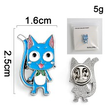 Fairy Tail Happy anime brooch pin