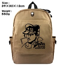 JoJo's Bizarre Adventure anime canvas backpack bag