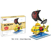One Piece boat ship anime Building Blocks 1500+PCS