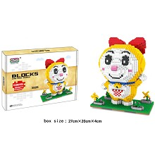 Doraemon Dorami anime Building Blocks 1920PCS