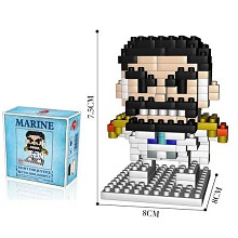 One Piece Garp anime Building Blocks 230PCS