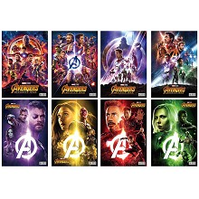 The Avengers Marvel hero posters set(8pcs a set)