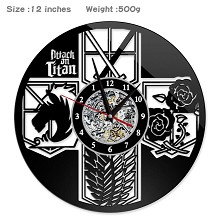 Attack on Titan anime wall clock
