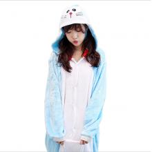 Doraemon flano pajamas dress hoodie