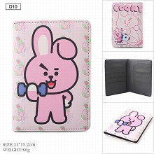 BTS star Passport Cover Card Case Credit Card Holder Wallet