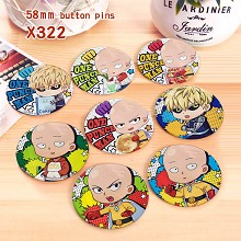 One Punch Man anime brooches pins set(8pcs a set)
