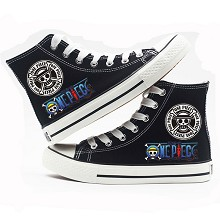 One Piece anime canvas shoes student plimsolls a pair