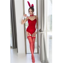 Adult Women Girl Sexy Red Rabbit Bunny Cosplay Cos...