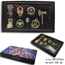 The Avengers movie key chains a set