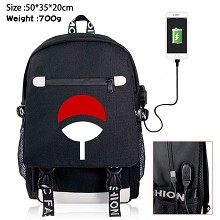 Naruto anime USB charging laptop backpack school bag