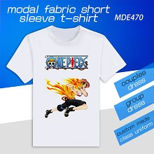 One Piece anime model short sleeve t-shirt