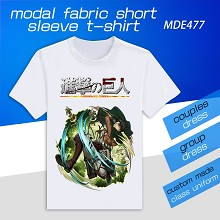 Attack on Titan anime model short sleeve t-shirt
