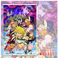 The Seven Deadly Sins anime wall scroll