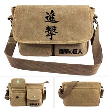 Attack on Titan anime canvas satchel shoulder bag