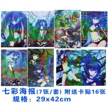 Black rock shooter anime posters(8pcs)
