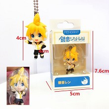 Hatsune Miku anime figure doll key chain