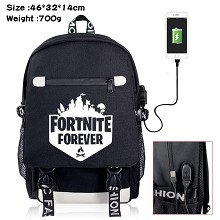 Fortnite game USB charging laptop backpack school ...