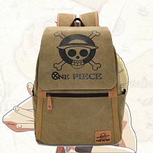One Piece anime canvas backpack bag