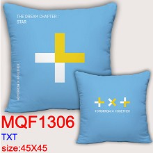 TXT star two-sided pillow