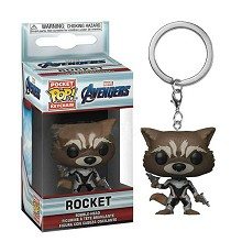 Funko POP The Avengers Rocket figure doll key chain