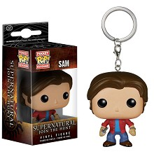 Funko POP Supernatural Sam figure doll key chain