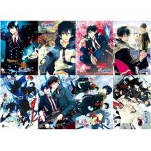 Ao no Exorcist anime posters(8pcs a set)