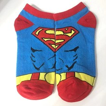 Super Man cotton short socks a pair
