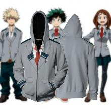 My Hero Academia anime printing hoodie sweater cloth