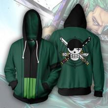 One Piece zoro 3D printing hoodie sweater cloth