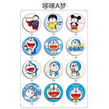 Doraemon brooches pins set(12pcs a set)