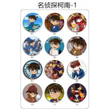Detective conan brooches pins set(24pcs a set)