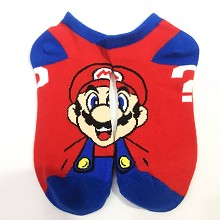 Super Mario cotton short socks a pair