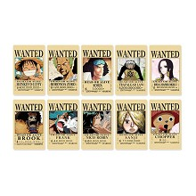 One Piece wanted anime stickers set(5set)
