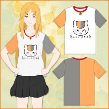Natsume yuujinchou cotton short sleeve t-shirt
