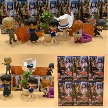 Detective conan anime figures set(6pcs a set)