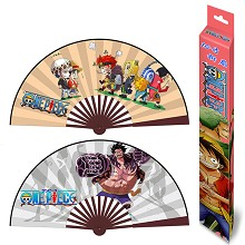 10inches One Piece anime silk cloth fans