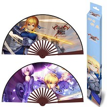 10inches Fate saber anime silk cloth fans