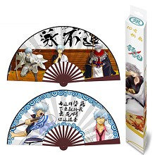 10inches Gintama anime silk cloth fans