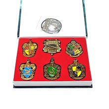 Harry Potter neckalce key chains a set