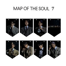BTS star hanging flag album return photo poster hanging pictures(8pcs a set+rope)