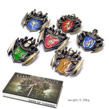 Game of Thrones brooches pins a set