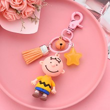 Snoopy Charlie Brown figure doll pendant key chain