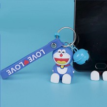 Doraemon anime figure doll pendant key chain