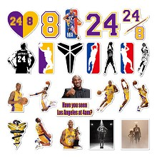 NBA Kobe Bryant 24# stickers set(24pcs a set)