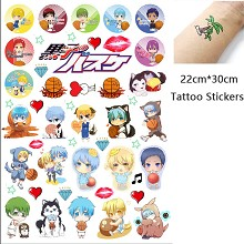 Kuroko no Basuke anime waterproof tattoo stickers